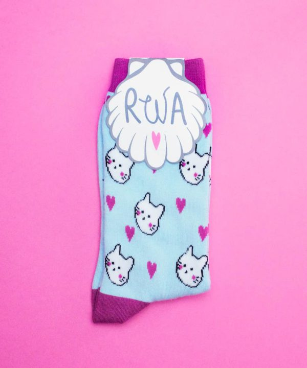 calze kitten cotone azzurre