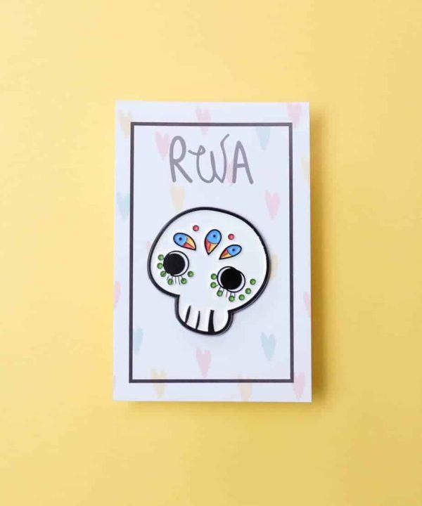 pin sugar skull teschio messicano