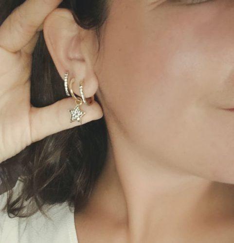 ORECCHINI HOOP con pietre - SENZA CIONDOLINI photo review